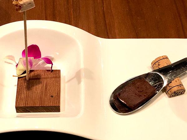 (プティフール(小菓子))低糖質ガトーショコラ 栗のギモーヴ