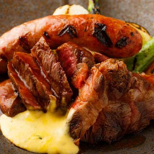 肉のグリル3種盛り合わせ