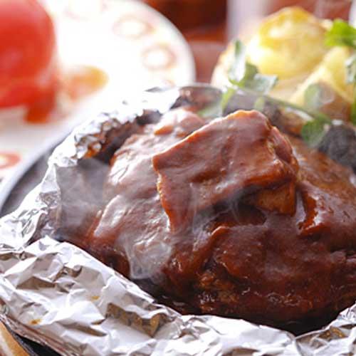 東洋亭名物「百年洋食ハンバーグステーキ」