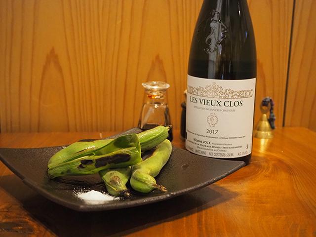 「そら豆」よく冷やした辛口の白ワインと♪