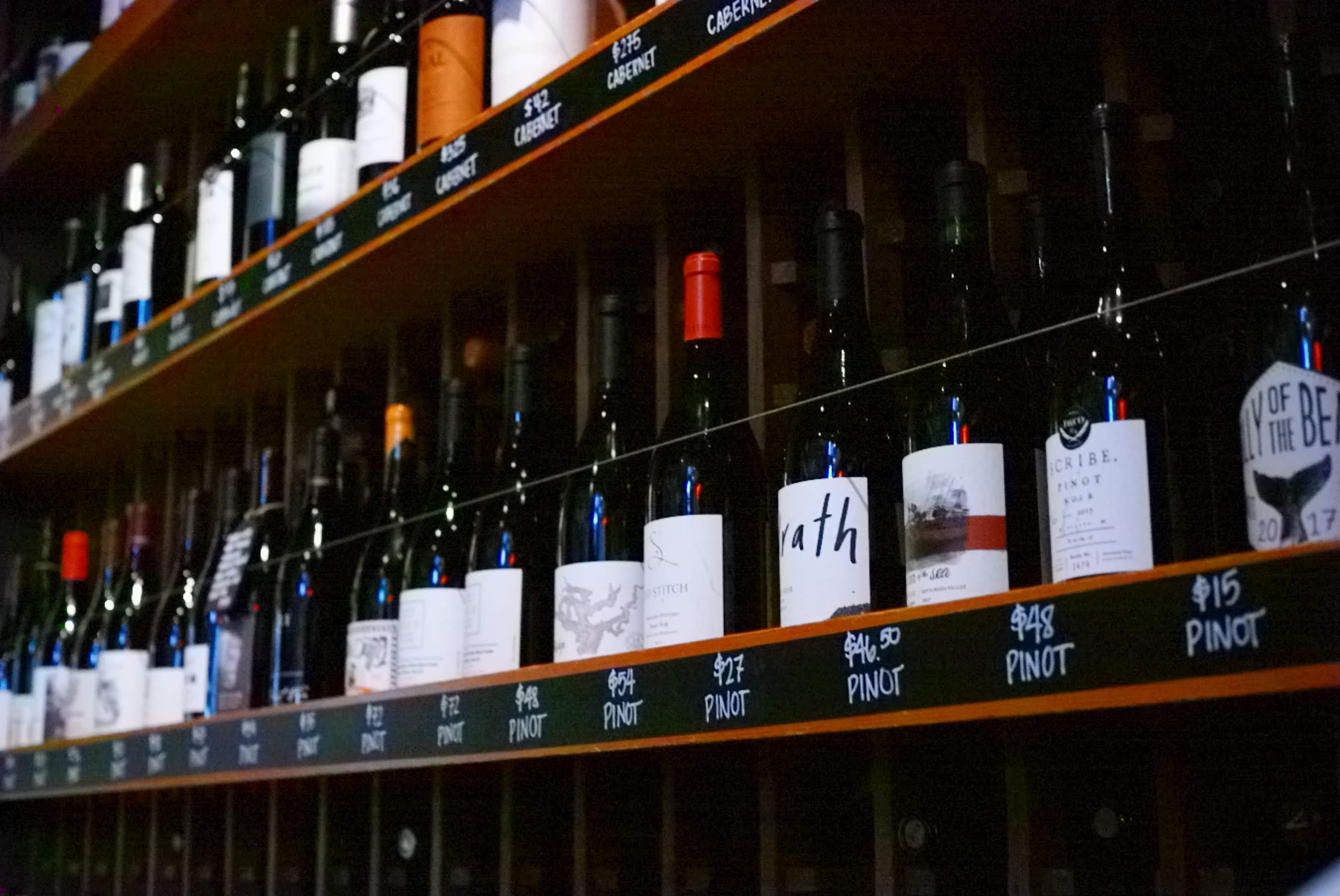 ピノ・ノワールのワインボトル