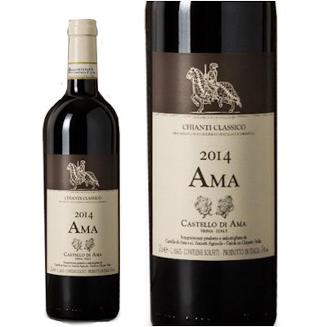 茶色い瓶に馬に乗った人の絵が描かれているラベルのキャンティワイン
