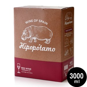 イポポタモ レッド テンプラニーリョ (赤) BIB [NV] 赤ワイン 3000ml / スペイン産 テンプラニーリョ100% バッグ・イン・ボックス