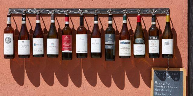 ピエモンテ州のワインボトル