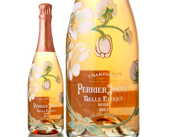 ペリエ ジュエ ベル エポック ロゼのボトルとラベルのアップ