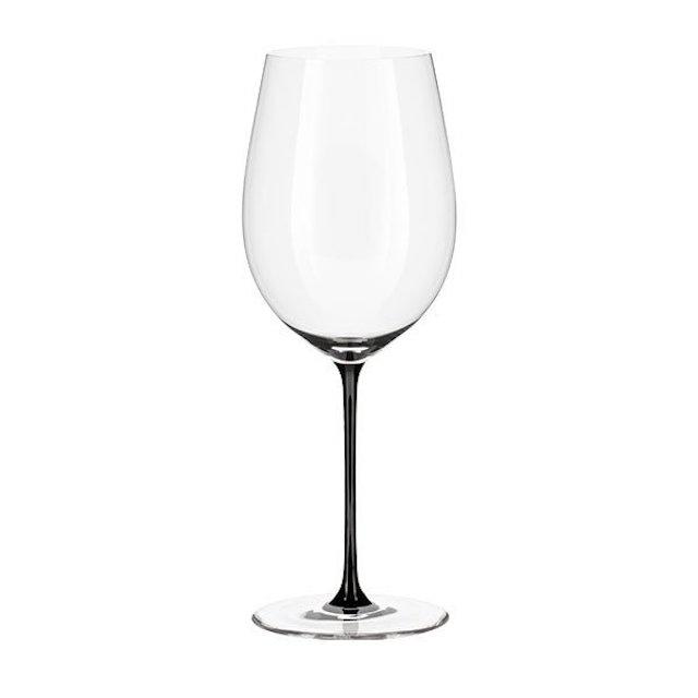 ステムが黒い赤ワイン用グラス1脚