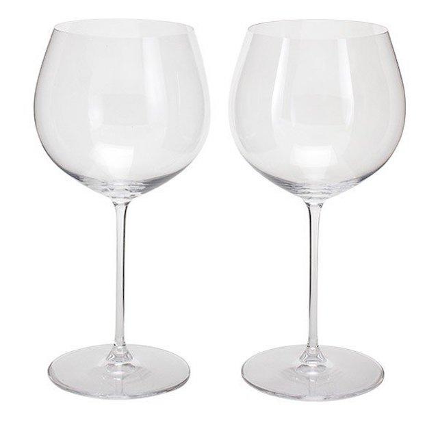 オークド・シャドルネ向きの白ワイン用グラス2脚