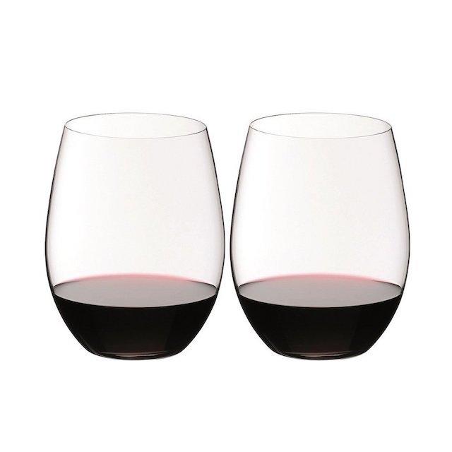 ステムがない赤ワイン用グラス2脚