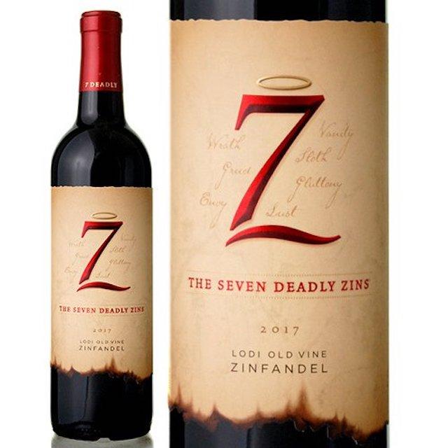 緑色の瓶にZのロゴが入ったベージュ色のラベルの赤ワイン
