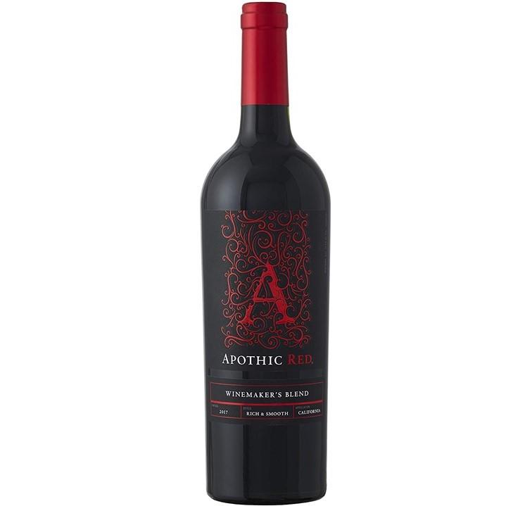 カリフォルニア産の赤ワイン「アポシック レッド」のボトル