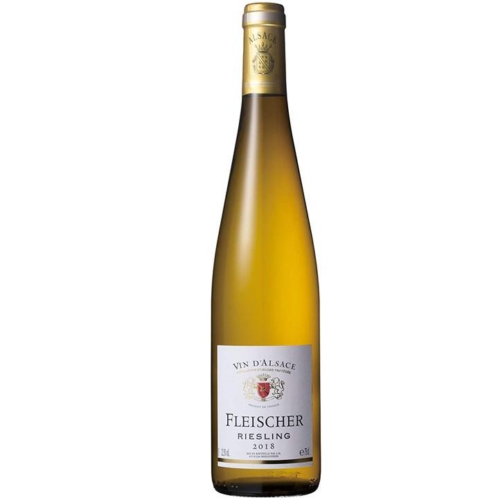 フランス・アルザス産の白ワイン「フライシャー リースリング」のボトル