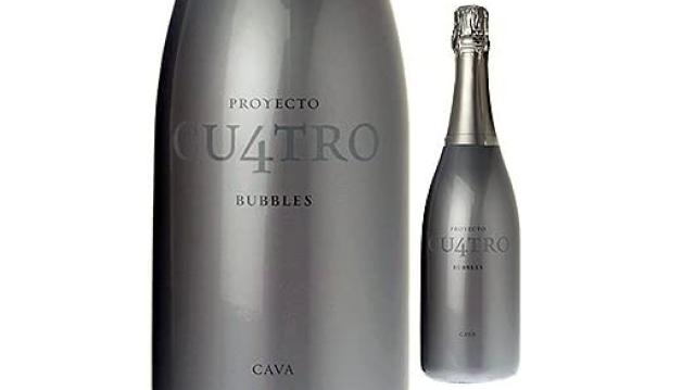 クロ・モンブラン「プロジェクト・クワトロ・カヴァ」のボトルとラベルのアップ