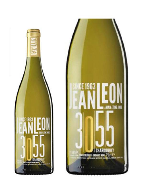 ジャン・レオン「3055・シャルドネ」のボトルとラベルのアップ