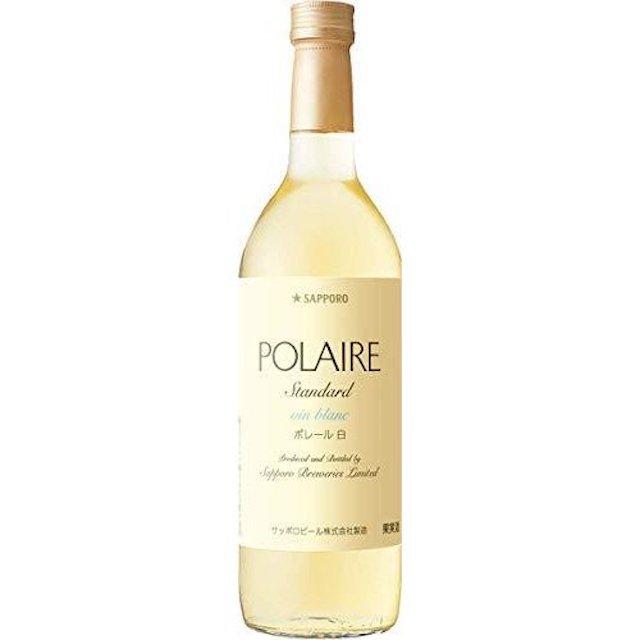 透明の瓶にPOLARIEと表記されたラベルの白ワイン