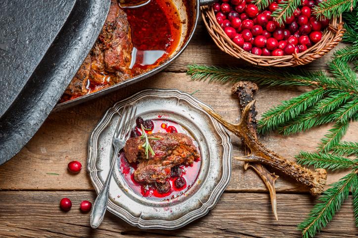 鹿肉のジビエ料理