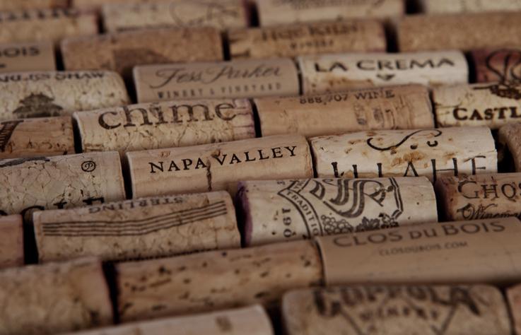 カルフォルニアのワインのコルク