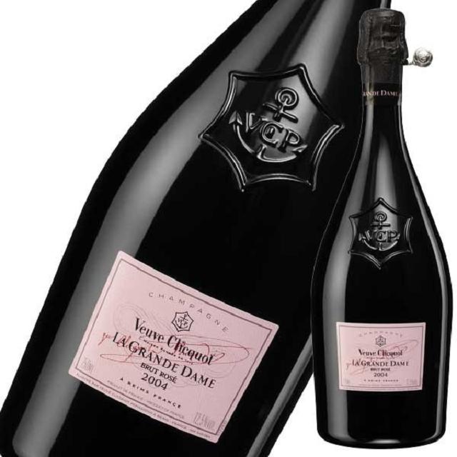 ヴーヴ・クリコ ラ・グランダム・ロゼのボトルとラベルのアップ
