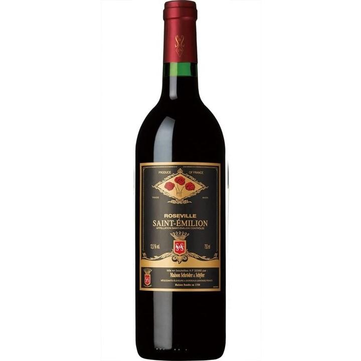 赤ワイン「サン・テミリオン ローズヴィル」のボトル