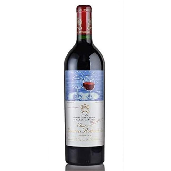 赤ワイン「シャトー・ムートン・ロートシルト2014」のボトル