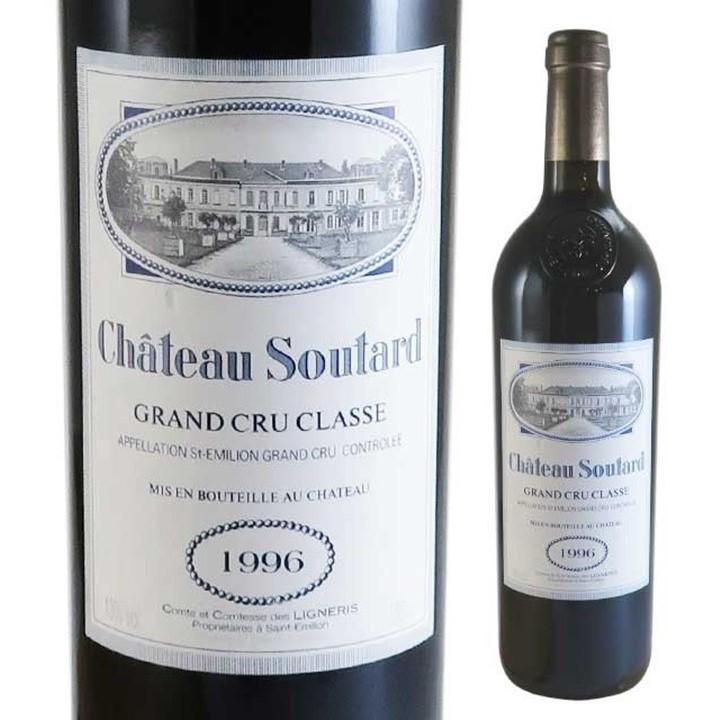 赤ワイン「シャトー・スータール」のボトルとラベル