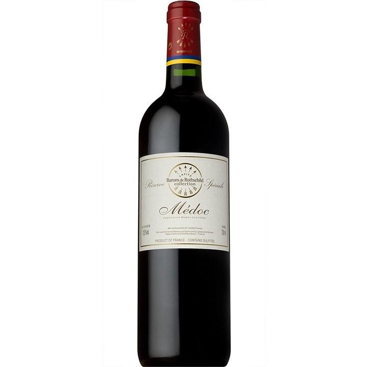 赤ワイン「ドメーヌ・バロン・ド・ロートシルト ボルドー レゼルブ スペシアル」のボトル