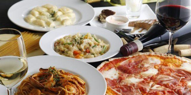 イタリアンフルコースとワイン